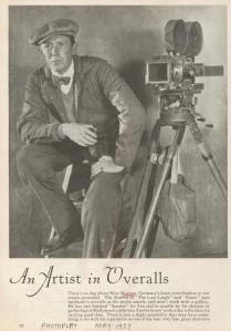 Murnau at work, courtesy of New York Public Library